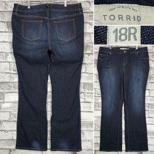 TORRID Dark Wash Bootcut Women's Size 18 x 33 Curvy Five Pocket Jeans